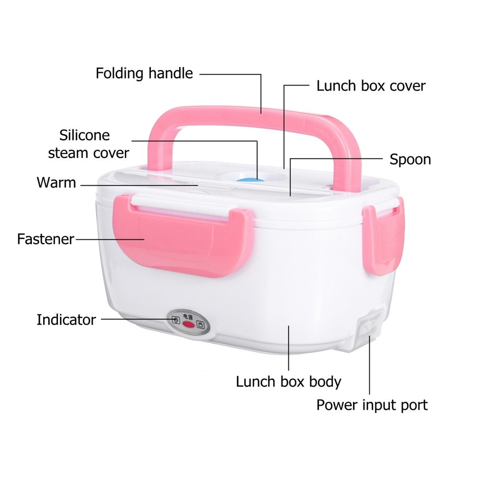40W 110V 1.05L Household Lunch Boxes Electric Heated Heating Boxes Convenient Lunch Bento Box Food Warmer