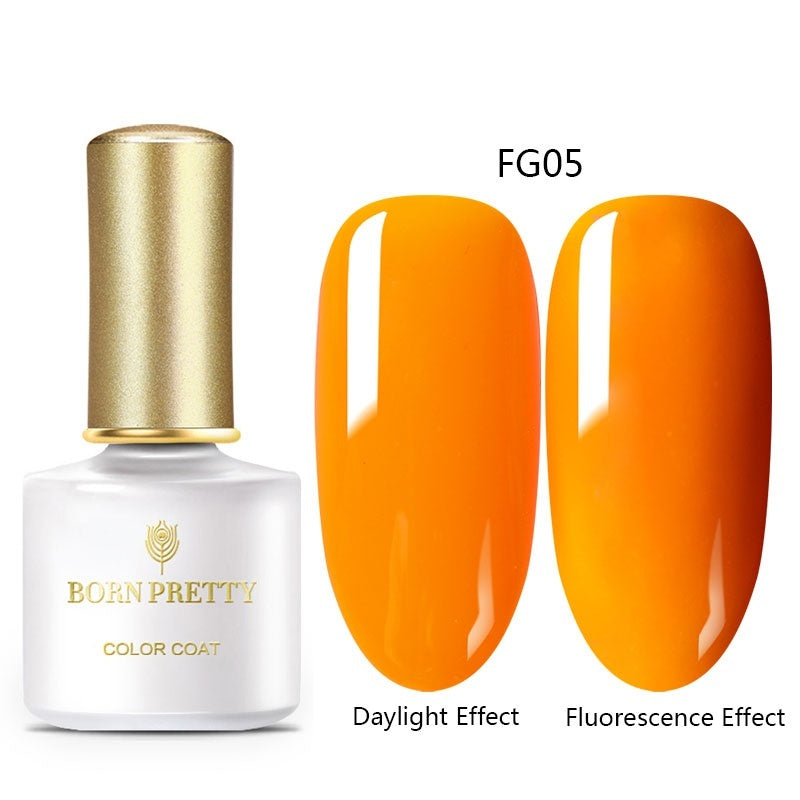 BORN PRETTY 6ml Summer Series Fluorescence Gel Polish Soak Off UV Gel Varnish Semi Permanent Soak Off Nail Art Gel Nail