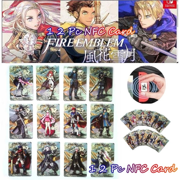 Fire Emblem Warriors NFC TAG PVC Cards 11PCS Full Set Game Linkage Card for NS New 3DS Switch