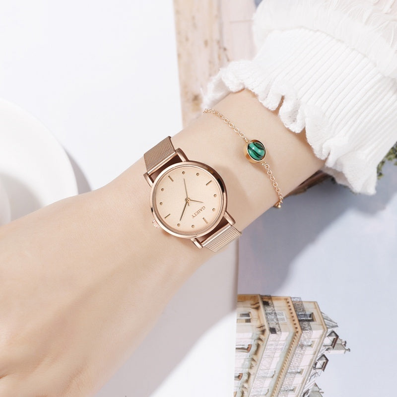 Reloj Mujer Casual Quartz Metal Mesh Band Watch Analog Women Wrist Watch Ladies Watch Stainless Steel Dress Watches Montre Femme