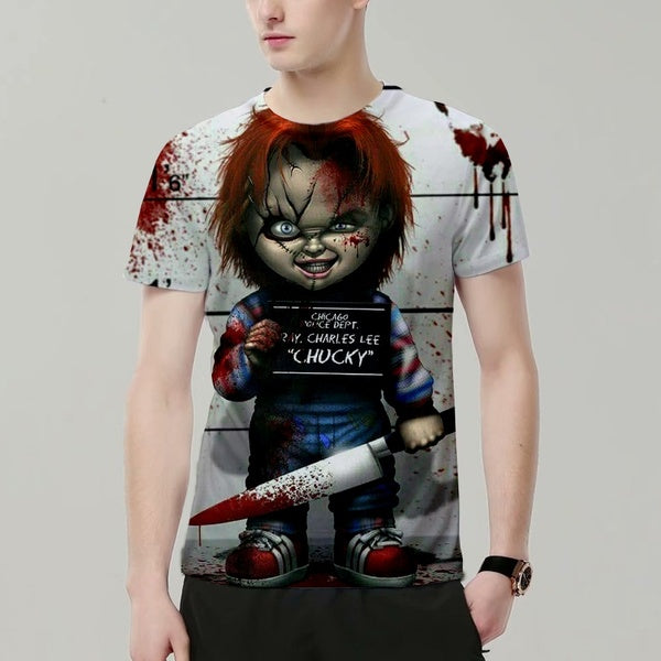 New Chucky Doll Movie, Children's Game, Horror Cool Design, 3-D Printed Leisure T-shirt, Men's Fashion T-shirt, Summer jacket XS-4XL