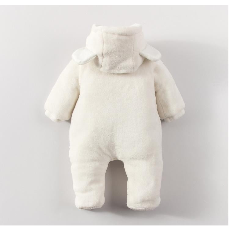 Baby Girls Boys Autumn Winter Fashion Cute Long Sleeve One Piece Hooded Jumpsuit Bodysuit Bear Costume Children Kids Keep Warm Romper Playsuits