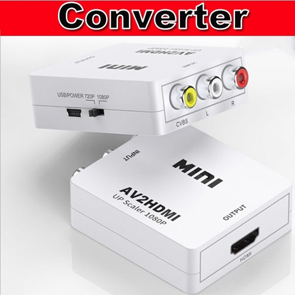 Mini AV To HDMI Video Audio Converter with Audio/Video Cable