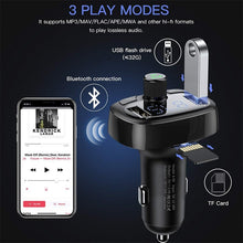 Load image into Gallery viewer, Baseus Car Charger FM Transmitter Aux Modulator Bluetooth Handsfree Car Audio MP3 Player 3.4A Fast Dual USB Mobile Phone Charger