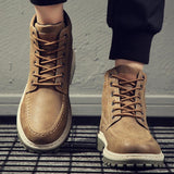 Men's Casual Martin Boots Tooling Boots Outdoor Casual Shoes Men's Winter Cotton Shoes Men's Shoes