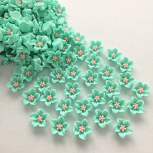 Load image into Gallery viewer, 40pcs resin lily flat back applique for mobile / wedding / crafts