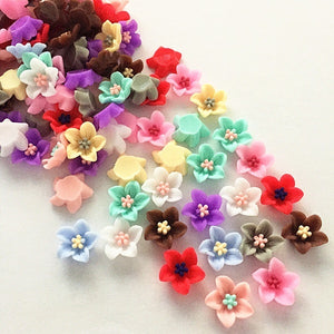 40pcs resin lily flat back applique for mobile / wedding / crafts