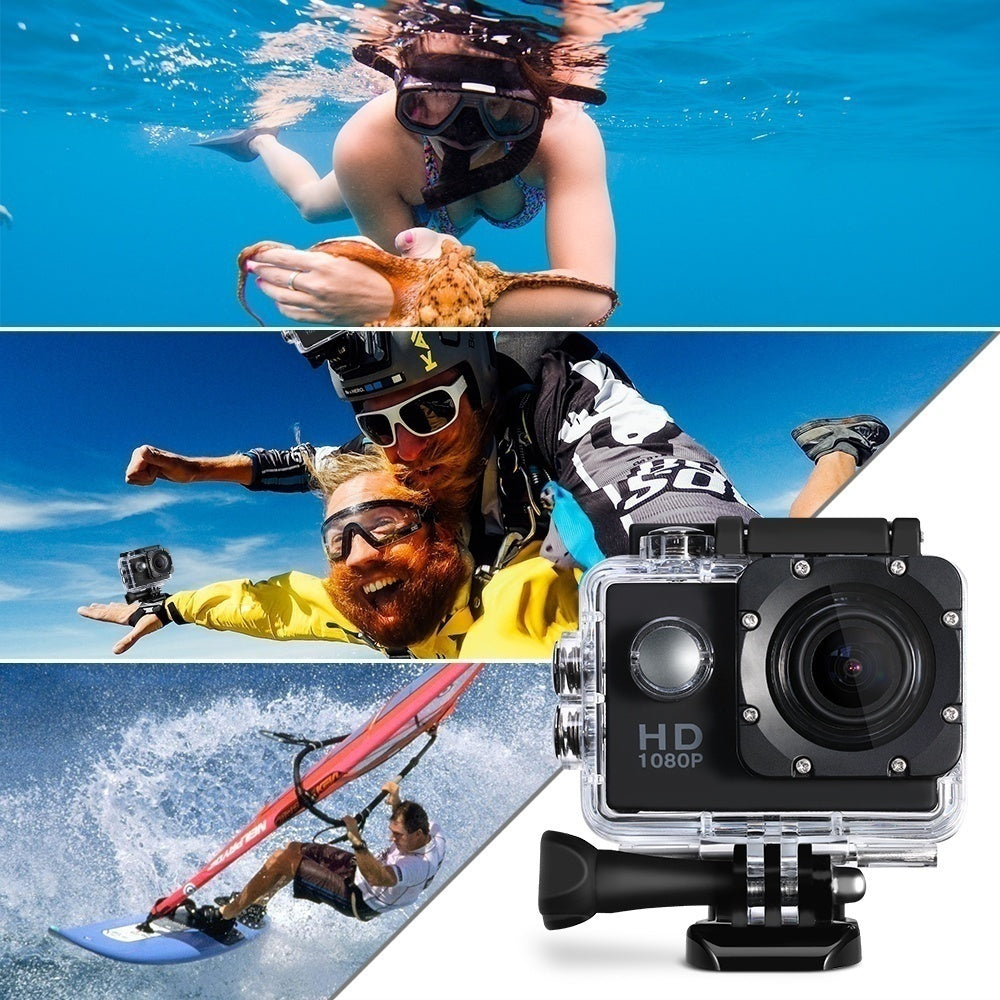 2019 Fashion SJ4000 2.0 Inch Ultra HD Screen 1080P Helmet Sports DVR DV DV Action Waterproof 30M Camera
