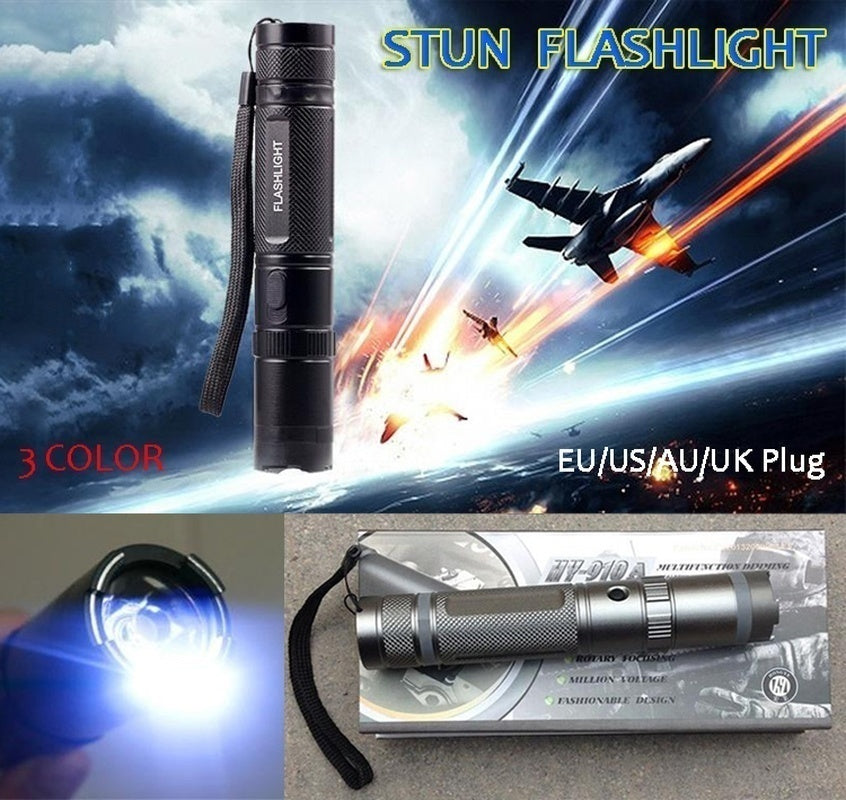 Portable Travel Lightning Electric Shock Flashlight Mini Stun Torch Emergency  Rechargeable Flashlight Electric Shock Stick