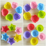 Baking Tools Cupcake Non-stick Silicone Muffin Cupcake Liners, Baking Cups, Muffin Liners (Round,Star,Heart,Rose)