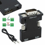HDMI to VGA Adapter/Converter with Audio 1080P Output for Monitor/Projector