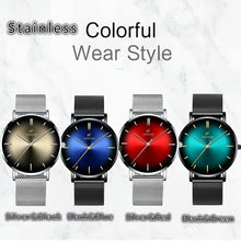 Load image into Gallery viewer, Fashion Mens Classic Wristwatch Herren Uhren Luxury Alloy Mesh Belt Ultra Thin Watches Montre Homme Casual Business Leather Quartz Watch Christmas Gifts for Men