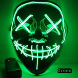 Halloween LED Glowing Mask Fluorescent Mask Scary Mask for Halloween Theme Party Bar Show