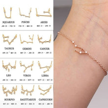Load image into Gallery viewer, Scorpio bracelet, horoscope bracelet, constellation bracelet, zodiac jewelry, horoscope jewelry, libra jewelry, zodiac bracelet, 12 constellation bracelet