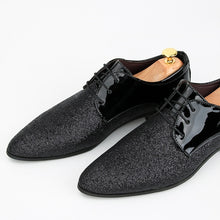 Load image into Gallery viewer, Men Casual Leather Shoes Fashion Pointed Toe Oxfords Shoes Leasure Sequin Shoes Breathable Derby Shoes (size 39-48) 8 Colors