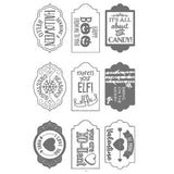 TAGS Metal Cutting Dies and stamps for DIY Embossing Scrapbook Album Paper Card Craft