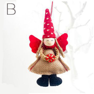 Cute Angel Plush Doll Christmas Decoration Pendant Christmas Tree Ornaments Christmas Decoration For Home
