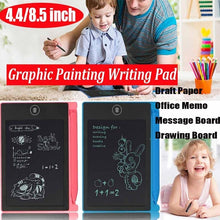 Load image into Gallery viewer, 4.4Inch/8.5  Inch LCD Electronic Graffiti Tablet Digital Writing Boards Graphic