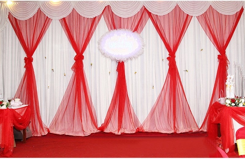 48cm Wide * 50m Long Crystal Organza 19 Colors for Choose Tulle Roll Fabric Drapes For Wedding Birthday Party Decoration