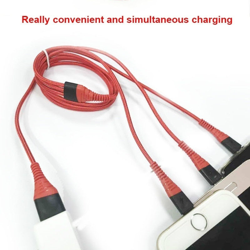0.5M/1.2M/2M 3 in 1 USB Fast charging Cable For iPhone Samsung Xiaomi Multi Fast Charge Charger Micro USB Cable Mobile Phone USB Type C Cable