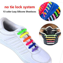Load image into Gallery viewer, 16pcs/Set Fashion Unisex 2019 Women /Men Athletic Running No Tie Shoelaces Elastic Silicone Shoe Lace All Sneakers Fit Strap  breathable running shoes