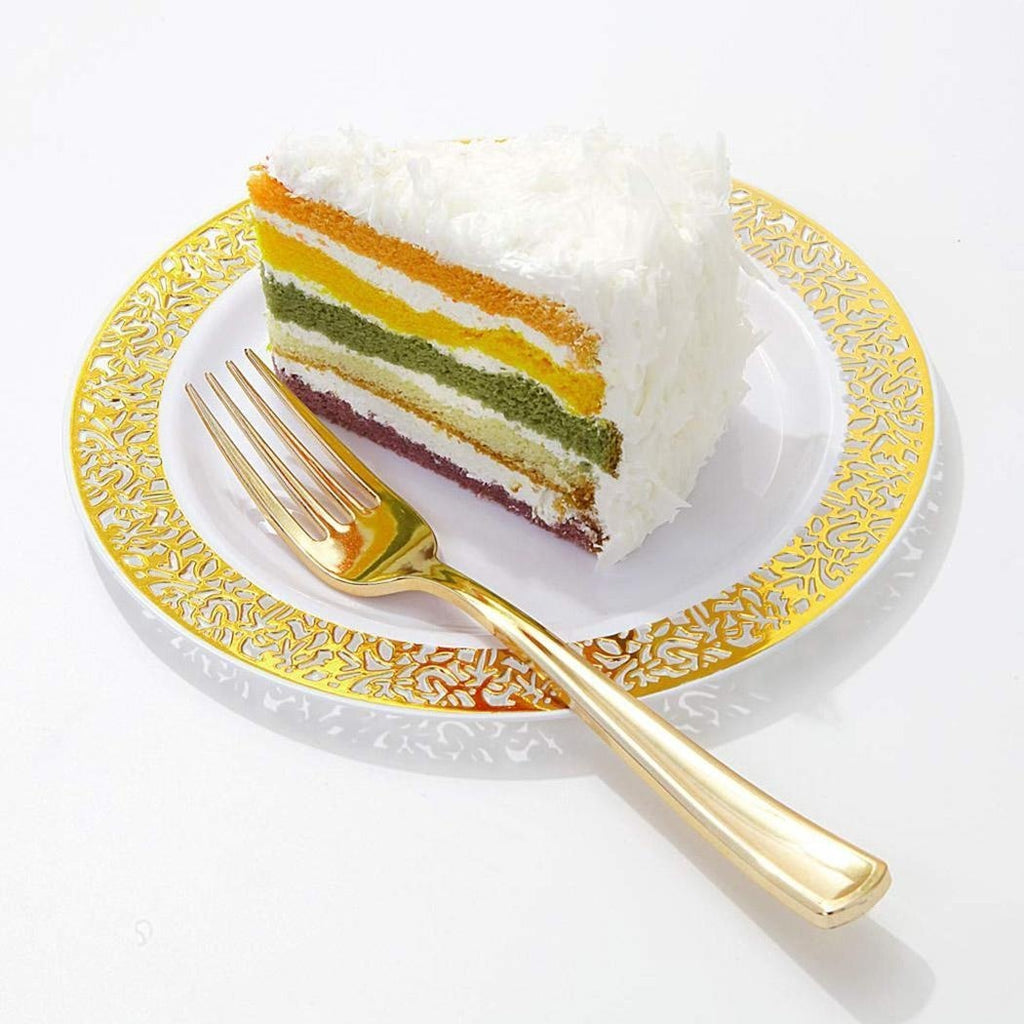 10.25inch, 3pcs/7.5inch,6pcs Hollow Wedding Party Disposable Plate  Without Tableware