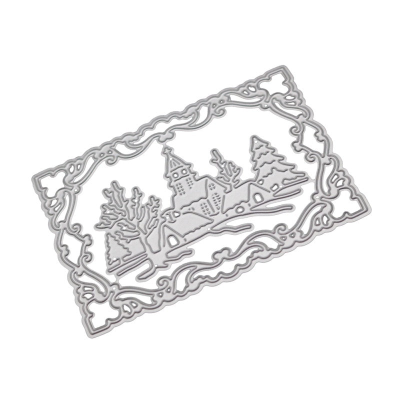 Snowy Day Pattern DIY Etched Carbon Steel Cutting Dies for Scrapbooking Album Photo Embossing Die Cut