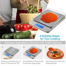 Load image into Gallery viewer, Digital Kitchen Scale Mini Pocket Jewelry Scale Cooking Food Scale with Back-Lit LCD Display PCS Tare Function for Kitchen Jewelry