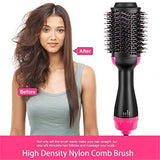 Hot Air Brush, One Step Hair Dryer Volumizer, 4-in-1 Salon Negative Ionv Straighten Electric Blow Dryer, Upgrade Feature Anti-scald Reduce Frizz and Static Styling Tools Rose
