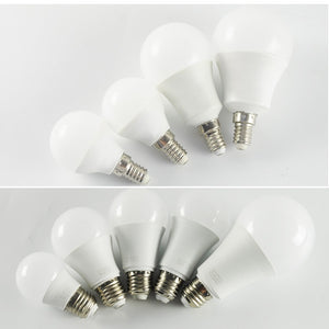 4pcs E14/E27 LED Bulb SMD5730 AC85V-265V 3/6/9/12/15/18/20W Aluminium+PC Fast Heat Dissipation