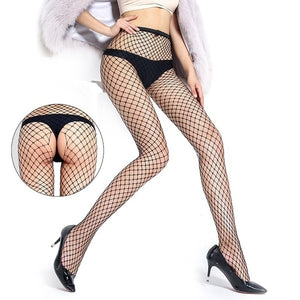 Jumpsuit Net Socks Net Single Open Socks Front and Rear Open Jumpsuit Net Socks Three-hole Mesh Tights