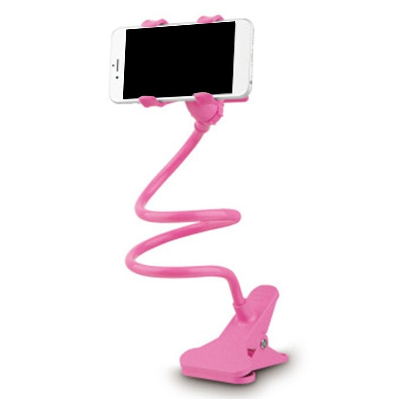 Flexible 360 Rotation Clip Mobile Cell Phone Holder Lazy Bed Desktop Bracket