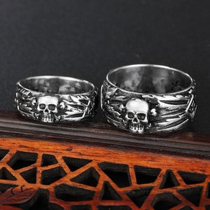 New Men's Skull Ring Punk Stainless Steel Fashion Retro Gothic Cycling Men's Ring Jewelry