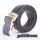 Fashion Tide High Grade Leather Automatic Buckle Belts Luxury Leisure Business Belt for Men Length:110cm--170cm