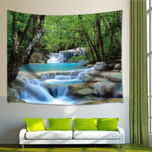 Load image into Gallery viewer, Nature Waterfall Green Forest Tapestry Landscape Tapestry Wall Hanging Tapestry Decorative Bohemian Tapestry for Home Living Room Dorm Decor