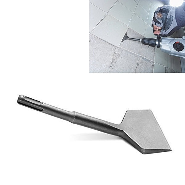 3-In Wide Cranked Angled Bent Electric Hammer Tile Removal Chisel Scraper Bits(3' X 6.5')