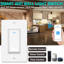 Load image into Gallery viewer, Smart Wifi Light Wall Switch Remote Panel Touch Control For Alexa Google Home