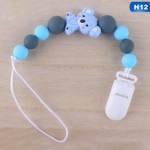 17 Styles New Cute Baby Pacifier Chain Dummy Holder Clip Baby Feeding Teether Pacifiers Clip