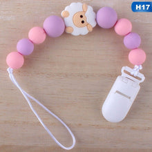 Load image into Gallery viewer, 17 Styles New Cute Baby Pacifier Chain Dummy Holder Clip Baby Feeding Teether Pacifiers Clip