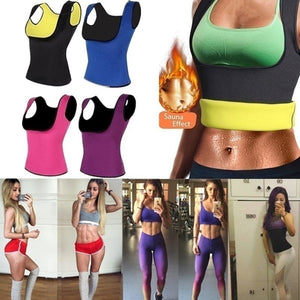 Women's Slimming Neoprene Shirt Vest Body Shapers For Weight Loss Sweat Workout Waist Trainer
