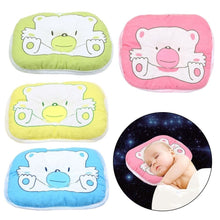 Load image into Gallery viewer, Bear Pattern Pillow Newborn Infant Baby Support Cushion Pad Prevent Flat Head