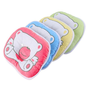 Bear Pattern Pillow Newborn Infant Baby Support Cushion Pad Prevent Flat Head