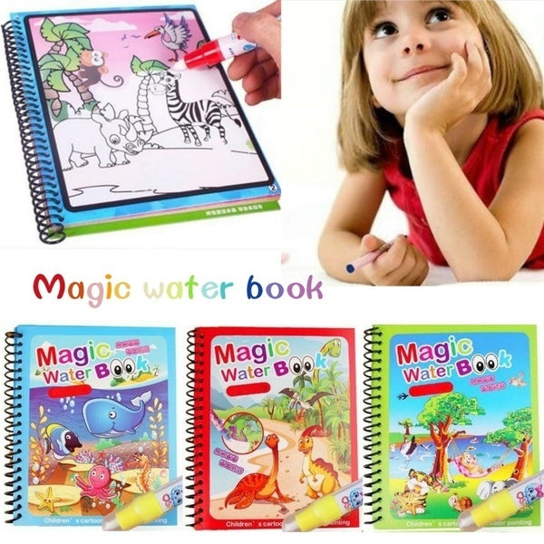 Water Coloring Books Animal Water Reveal Pad Paint Book for Toddlers Boys Girls