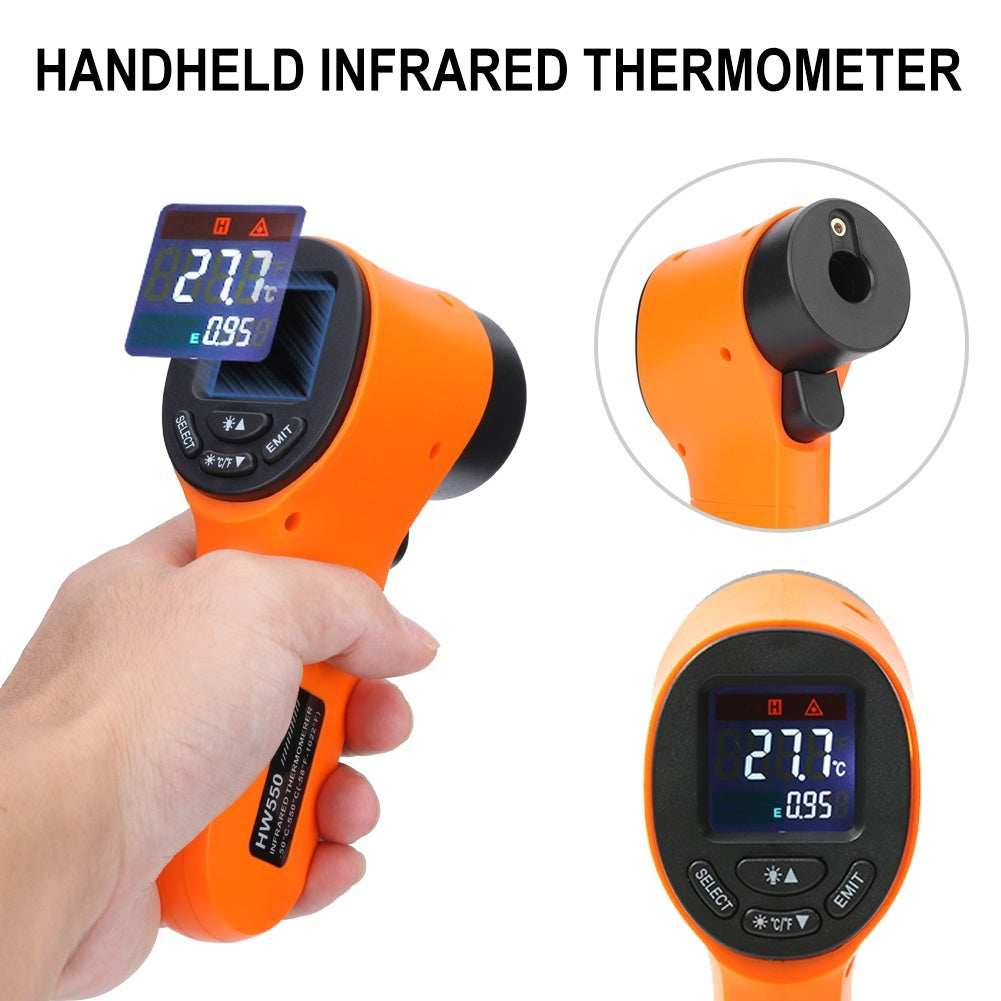 Hand-held multi-functional liquid crystal non-contact digital thermometer, humidity meter, pyrometer, infrared gun-50~550¡ãC