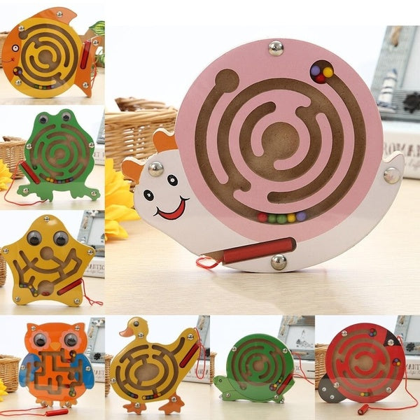 Puzzle Magnet Beads Slot Maze For Baby Kids Educational Development Intelligence Toys