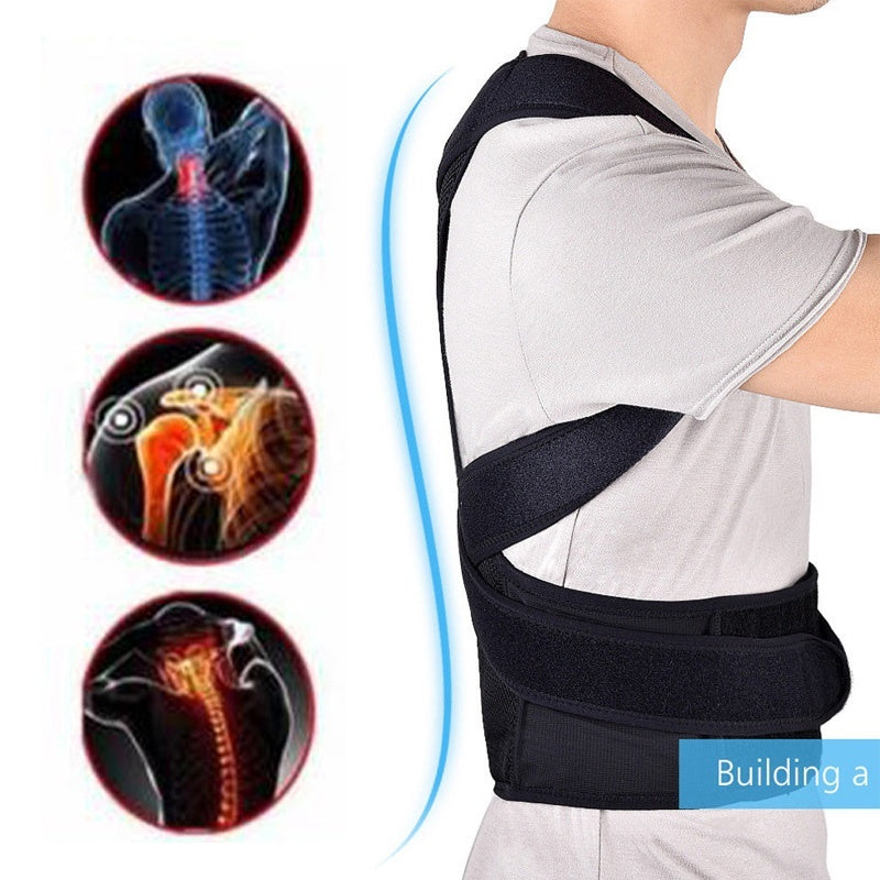 Waist Protection Accessories Adjustable Adult Back with Women&Men Back Correction Band with Support Plate Kyphosis Correction Band Health & Beauty  (XXS-XL)