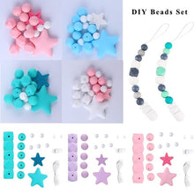 Load image into Gallery viewer, New Silicone Beads Bpa Free Grade Diy Beads Teething Necklace Diy Crafts Silicone Teething Beads Baby Teether Pacifier Clip Chain