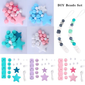 New Silicone Beads Bpa Free Grade Diy Beads Teething Necklace Diy Crafts Silicone Teething Beads Baby Teether Pacifier Clip Chain