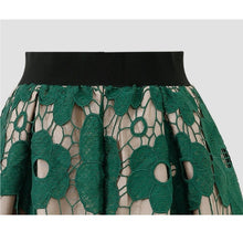 Load image into Gallery viewer, 2019 Women's Fashion Lace Openwork Flower Skirt Casual Elegant A Line Knee Length Skir.