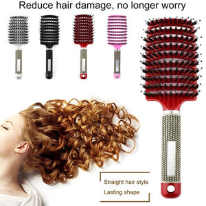 Hair Scalp Massage Comb Bristle & Nylon Hairbrush Wet Curly Hair Styling Tool
